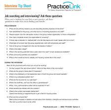 Interview Tip Interview Tip Sheet Chspsc Llc