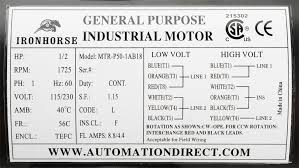 mtr p50 1ab18 standard performance ac motor general purpose, 1 american ironhorse parts catalog at American Ironhorse Wiring Diagram Pdf