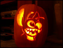 Outstanding Halloween Pumpkin Carving Ideas With Stitch Pumpkin Face And  Charming Lighting Inspiration. 25 Attractive Halloween Pumpkin Carving Ideas  For ...