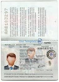 Us Passport Template Psd Argentina Passport Template Psd
