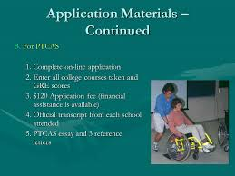 university of new physical therapy program apta unm application materials continued b for ptcas 1