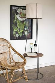 modern metal furniture. Industrial Modern Metal And Wood Floor Lamp With Side Table Furniture I