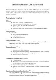 Internship Report Sample Simple 44 How To Write An Internship Report Pulsefitseattle