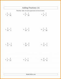 Worksheet #612792: Add Fractions with Unlike Denominators ...