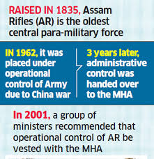 Mha Organisation Chart Indian Army Home Ministry To Seek Ccs Nod For Assam Rifles
