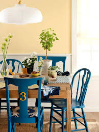 colorful dining table multi colored chairs diffe