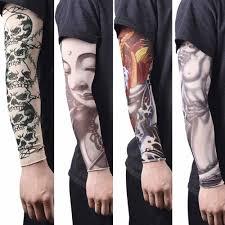 анти солнце модные для мужчин и для женщин татуировки руки ноги рукава эластичные
