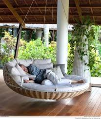 home decorating idea simple decor outdoor porch bed hanging porch