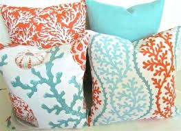 Coral Colored Decorative Pillows