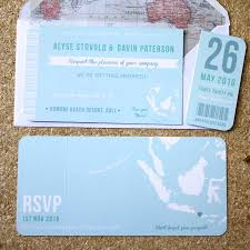 blue boarding p wedding invitation