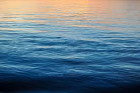 Ocean Background With Sunset