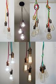 plug in industrial lighting. 3 Pendant Light Ceiling Hanging Edison Bulb - Modern Industrial Chandelier- Hardwired Fixture Blub Cluster Antique Twisted Cord By HangoutLighting On Plug In Lighting N