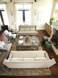 Diagonal Furniture Arrangement Residence Living Room Craftsman