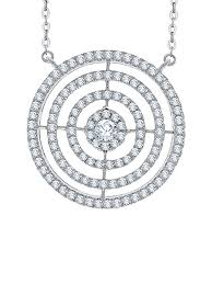 katarina diamond triple circle pendant necklace in 10k white gold 1 1 3 cttw g h i2 i3 com