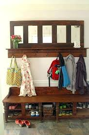 Coat Rack Bench With Mirror Coat Rack With Bench And Storage Entryway Storage Bench And Coat 58