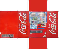 Free Printable Soda Vending Machine Labels Adorable Vendingmachine Obsessive Creates Papercraft Version Of His Beloved