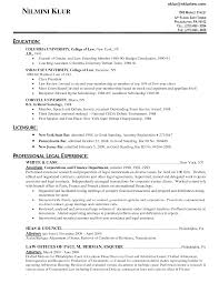 Example Attorney Resume Sample Featuring Education And License