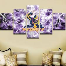 5 piece nrl melbourne storm oil painting on canvas print on wall art painting melbourne with canvas wall art cornershackonline