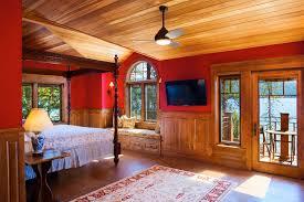 Lake House Bedroom Mountain Architects Hendricks Architecture Idaho Priest Lake House