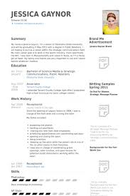 Hotel Receptionist Resume Samples - April.onthemarch.co