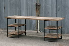 reclaimed wood office furniture. looking for a reclaimed wood desk your home or office this multitiered is just the you handmade solid oak with steel furniture