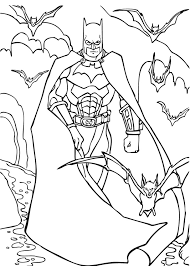 Small Picture Batman Coloring pages Kids Crafts and Activities Daily Kids