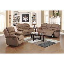 Microfiber Living Room Set Ellis Contemporary Microfiber 3 Piece Living Room Set Dark Brown
