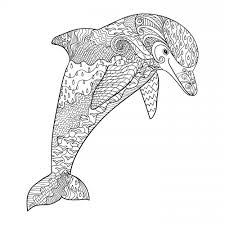 Fantasy Dolphin Coloring Page Printables Dolphin Coloring Pages