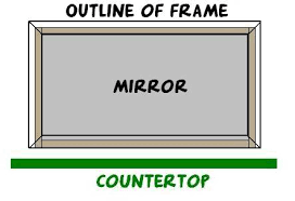 mirror frame outline. This Meant That We Needed To Screw In The Bottom Of Board As Close Possible. Too High \u2013 Would Crack Mirror. Mirror Frame Outline