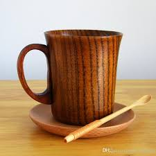 280ml wooden beer cup primitive high quality wood mug with handle natural wood coffee mug tea cup wooden drinkware gift coffee mugs for gifts coffee mugs