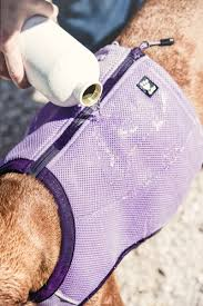 Details About Hurtta Dog Motivation Cooling Vest For Hot Days Holiday Long Haired Dog Blue Xxs