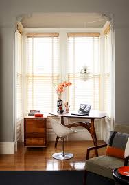bay window desk home office modern. Modern Executive Desk Bedroom Midcentury With Alcove Baseboards Bay Window Home Office E