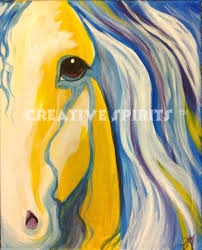 paint sip create horse of a diffe color creative spirits okoboji
