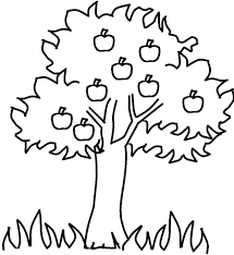 apple tree coloring page.  Coloring Apple Tree Coloring Pages Free Online Pine  Flowers Inside Apple Tree Coloring Page L