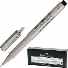 "<b>Ручка капиллярная Faber</b>-<b>Castell</b> ""Ecco Pigment"", толщина письма ..."