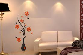 vase plum wall decorated 3d decorative wall stickers