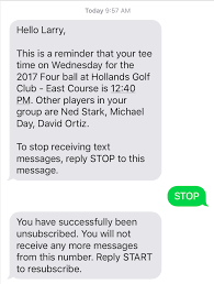 Text Essages Golfgenius Text Messages