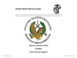 Marine Corps Hand Signals Ics0903 Hand And Arm Signals