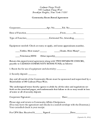 Room Rental Contract Community Room Rental Agreement Sample In Word And Pdf Formats