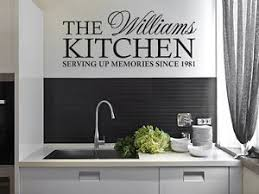 personalised kitchen wall art stickers