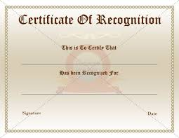 free recognition certificates certificates inspiring recognition certificate template