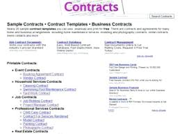 Printable Sample Construction Contract Template Form Contracts Com ...