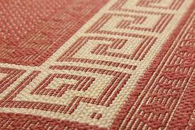 greek anti slip flatweave rugs red runners