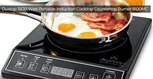 duxtop 1800 watt portable induction cooktop countertop burner 9100mc 1