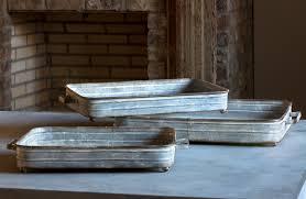 galvanized metal trays coffee table