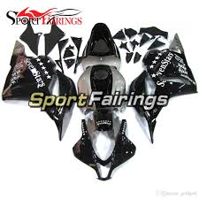 complete motorcycle injection fairing kit black sliver seven stars