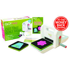 Accuquilt GO! Baby Fabric Cutter Starter Set | Fabric Cutting Machine & Baby Fabric Cutter Starter Set (55600) - shown with everything included in Adamdwight.com