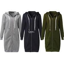 new arrival winter coats jacket women long hooded sweatshirts coat ca