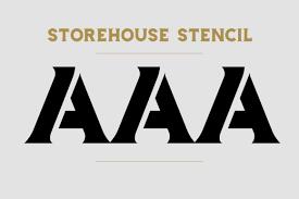 Number Stencil Font Storehouse Font Display Fontplanet
