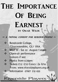 the importance of being earnest by oscar wilde aug  the importance of being earnest by oscar wilde cover